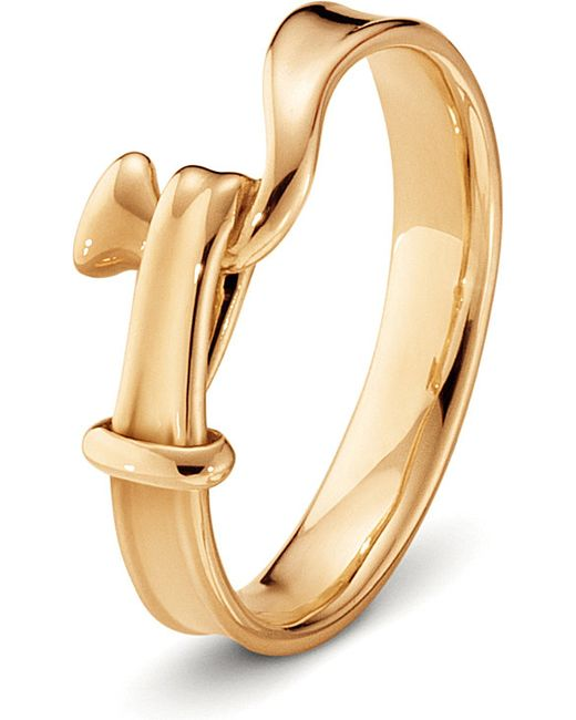 Georg Jensen | Metallic Torun 18ct Rose-gold Ring | Lyst