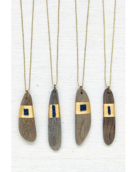 Velvet By Graham & Spencer | Blue Driftwood Amulet With Lapis By See Real Flowers | Lyst