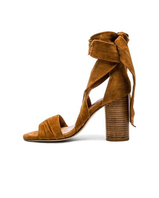 Raye Mia Suede Sandals In Brown Whiskey Lyst