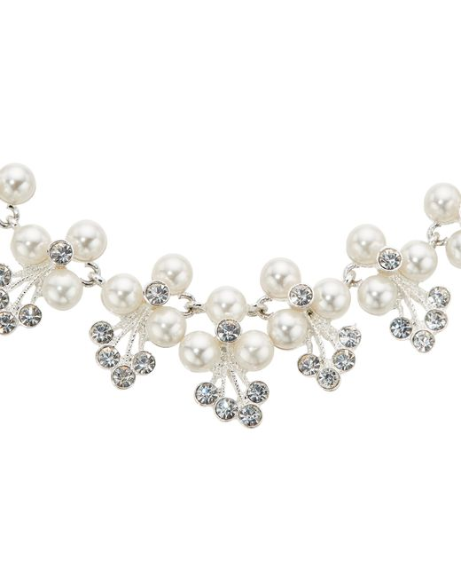 John Lewis | Metallic Faux Pearl Flower Collar Necklace | Lyst