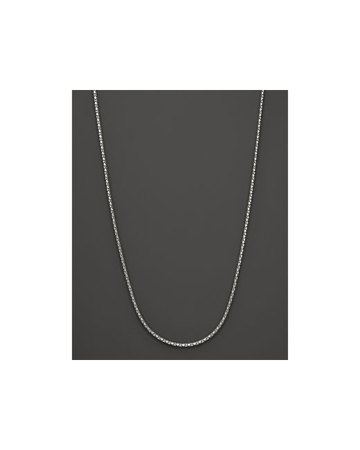 John Hardy | Metallic Sterling Silver Small Dot Chain Necklace, 36"