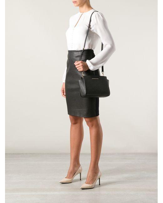 michael michael kors 39 selma 39 medium messenger bag in black. Black Bedroom Furniture Sets. Home Design Ideas