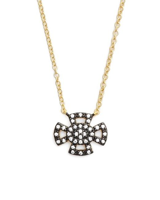 Freida Rothman | Metallic 'metropolitan' Maltese Cross Pendant Necklace | Lyst