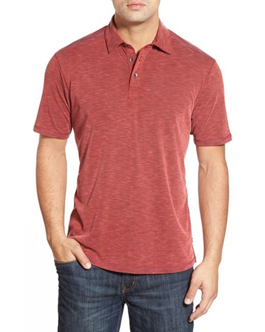 Tommy bahama 39 new paradise around spectator 39 polo in red for Tommy bahama polo shirts on sale