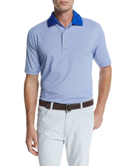 Peter millar jubilee striped short sleeve jersey polo for Peter millar polo shirts