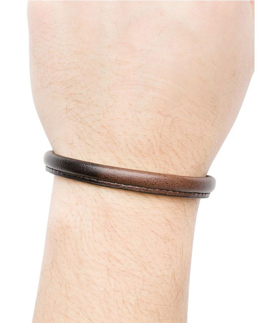 Hook + Albert | Brown Leather Bangle Bracelet for Men | Lyst