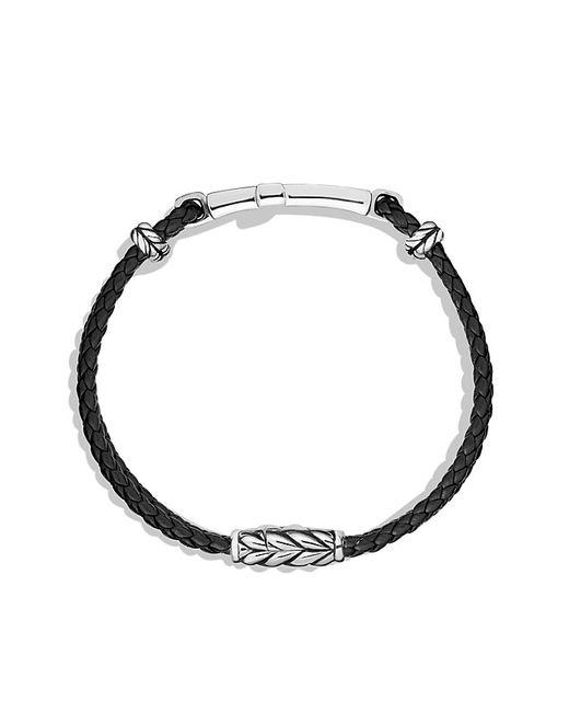 David Yurman | Black Cross Bracelet With Gray Sapphires for Men | Lyst