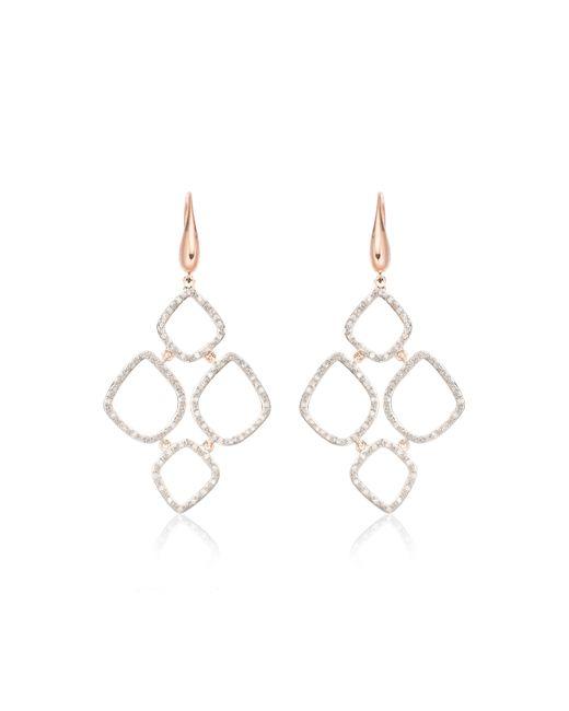 Monica Vinader | Pink Riva Diamond Cluster Drop Earrings | Lyst