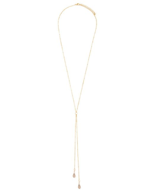 Forever 21 | Metallic Faux Stone Drop Necklace | Lyst