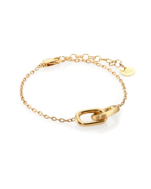 Marco Bicego | Metallic Delicati 18k Yellow Gold Interlocking Link Bracelet | Lyst