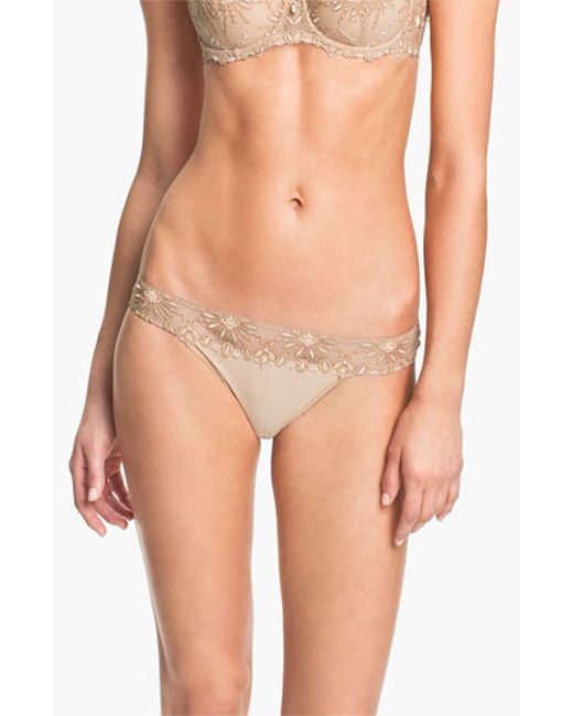 Chantelle | Natural 'vendome' Tanga | Lyst