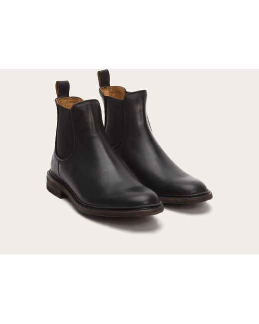 Frye | Black James Leather Chelsea Boots for Men | Lyst