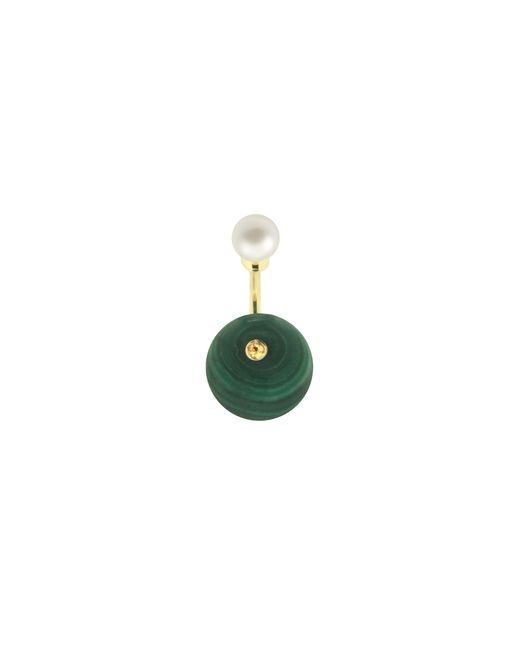 Delfina Delettrez   Green Stone-edge Piercing Earring   Lyst