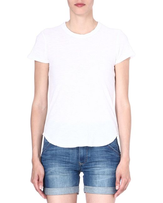 James Perse | White Crew-neck Cotton T-shirt | Lyst