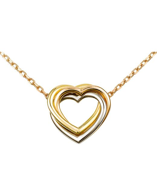 Cartier | Metallic Trinity Heart 18Ct Three-Gold Necklace | Lyst