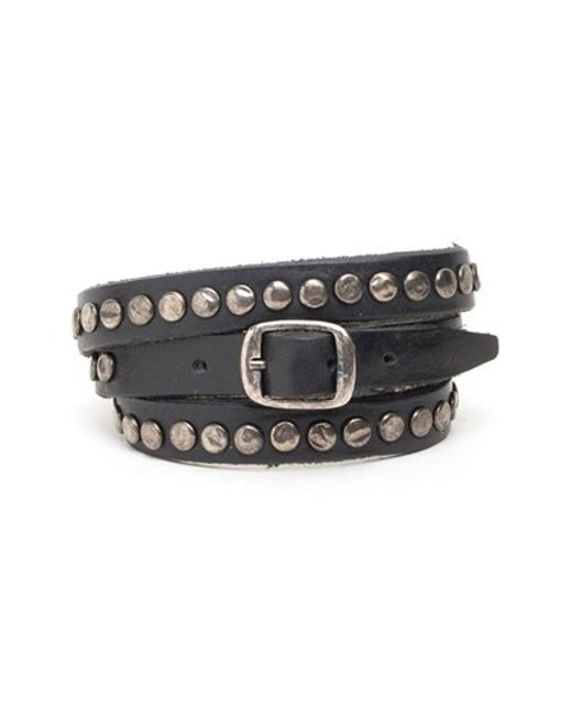 Will Leather Goods | Black 'laurel' Wrap Bracelet for Men | Lyst