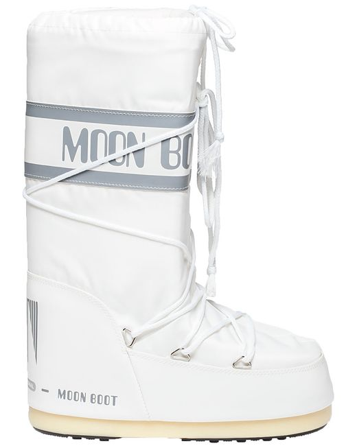 Tecnica Moon Boot After Ski Boot White Fabric In White Lyst