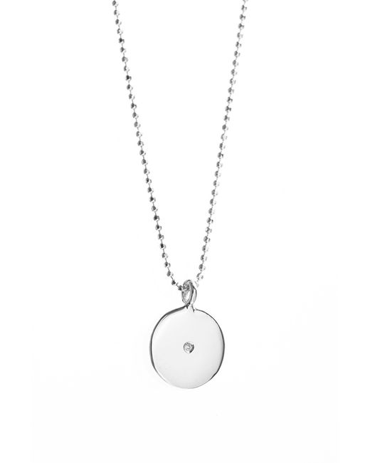 Velvet By Graham & Spencer | Metallic Circle Charm Necklace With Diamond By Ariel Gordon | Lyst