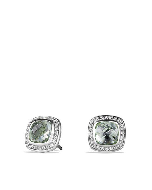 David Yurman | Metallic Albion Earrings With Prasiolite And Diamonds | Lyst