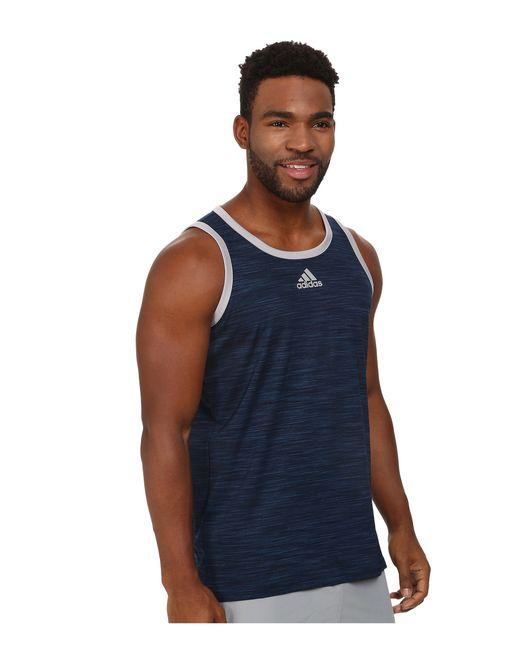 Adidas Originals | Blue Heathered Tank for Men | Lyst