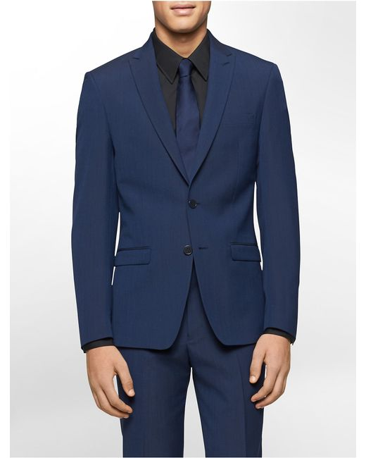 Calvin klein white label x fit ultra slim fit navy suit for Calvin klein x fit dress shirt