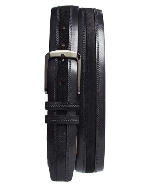 Mezlan | Gray 'diver Crosta' Leather Belt | Lyst