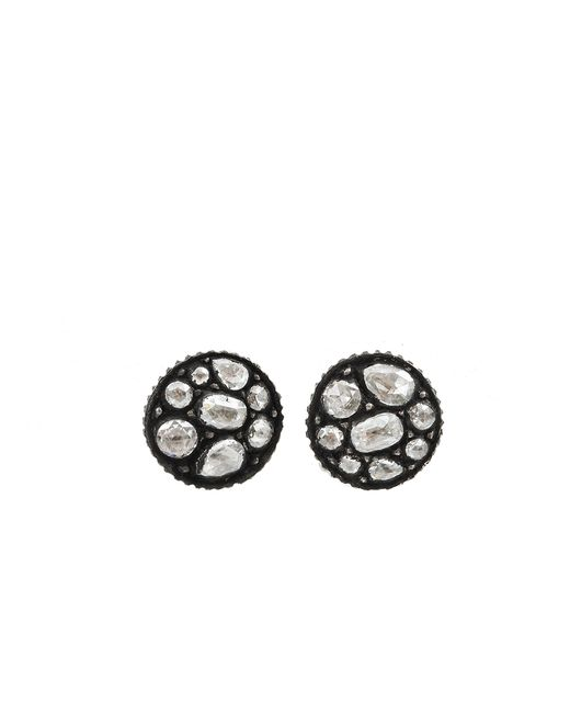 Yossi Harari | White Sara Diamond Mosaic Stud Earrings | Lyst