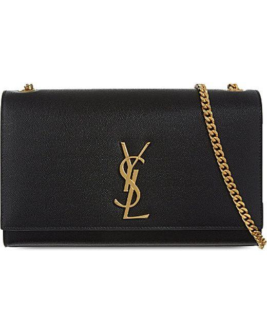 Saint Laurent | Black Monogram Medium Leather Shoulder Bag | Lyst