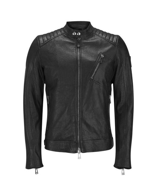 Belstaff | Black Men's K Racer Leather Blouson Jacket for Men | Lyst