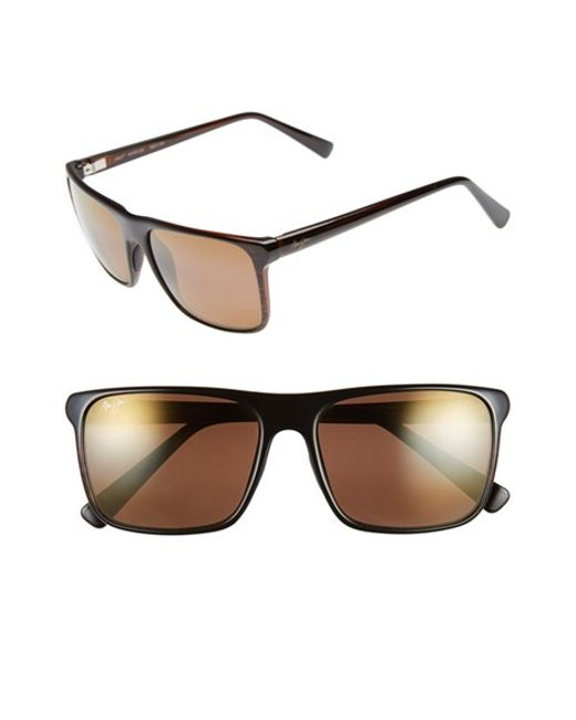 Maui Jim | Brown 'flat Island' 58mm Polarized Sunglasses | Lyst