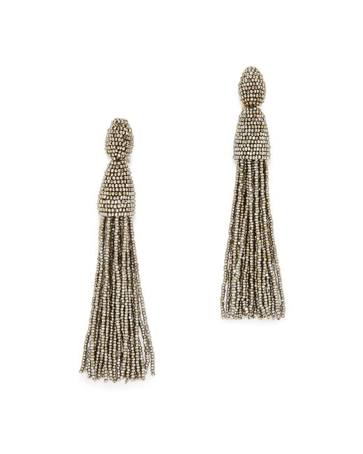Oscar de la Renta | Metallic Tassel Earrings | Lyst