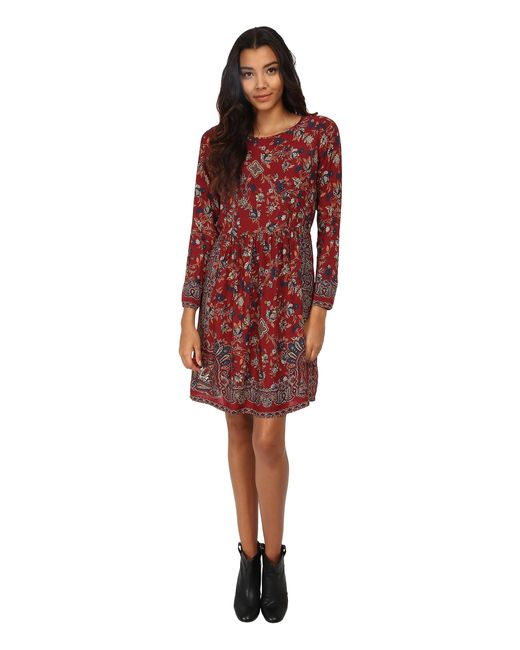Lucky Brand | Red Vintage Floral Dress | Lyst