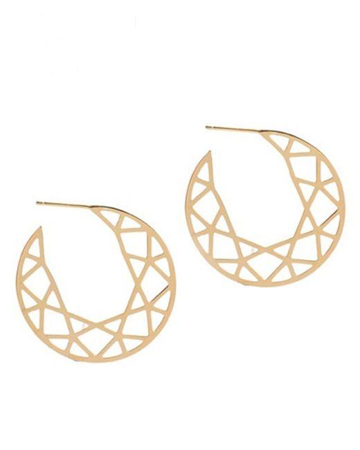 Myia Bonner | Metallic Large Gold Brilliant Hoop Earrings | Lyst