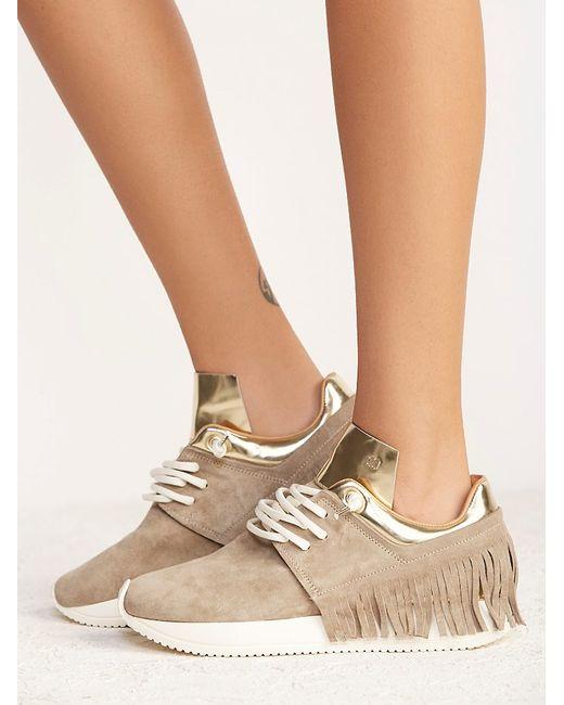 Free People Ramapo Fringe Sneaker In Brown Lyst