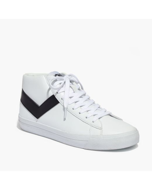 Madewell Pony 174 Topstar Hi Leather High Top Sneakers In
