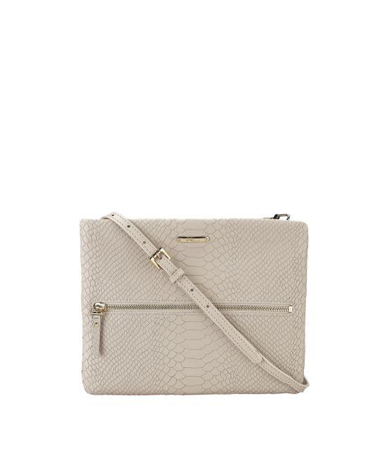 Gigi New York | Natural Python-Embossed Leather Cross-Body Bag | Lyst