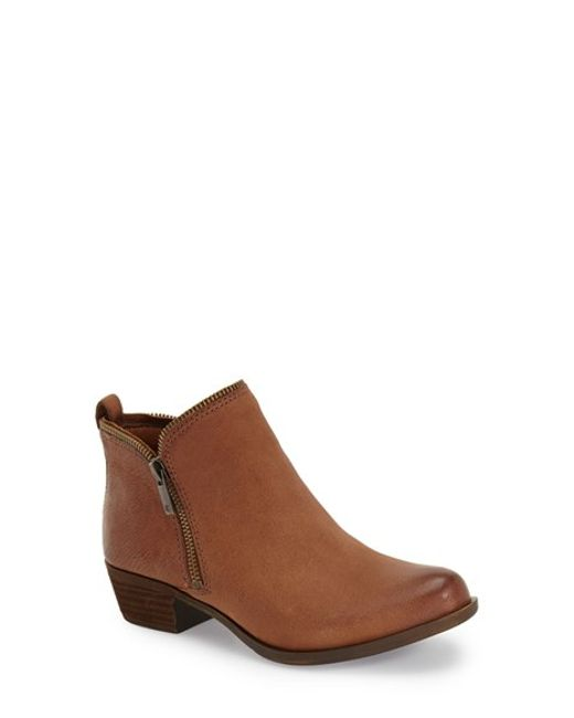Lucky Brand | Brown Bartalino Stud-Embossed Ankle Boots | Lyst