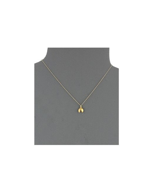 Dogeared | Metallic Good Fortune Fortune Cookie Reminder Necklace | Lyst