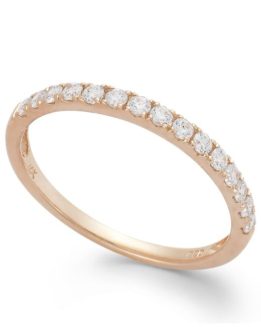 Arabella | Pink 14k Gold Ring, Swarovski Zirconia Wedding Band (1 Ct. T.w.) | Lyst