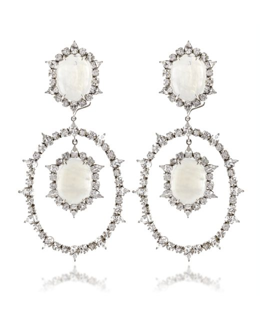 Emily & Ashley | White Moonstone Earrings | Lyst