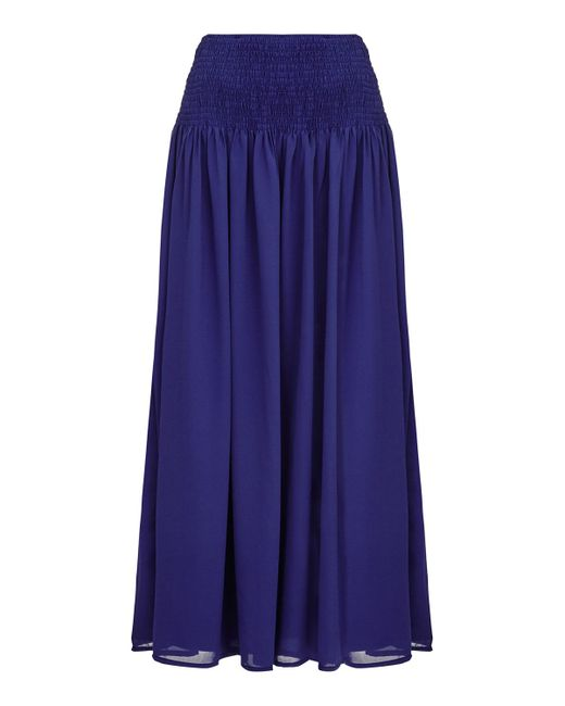 almost chiffon maxi skirt in blue navy save 31