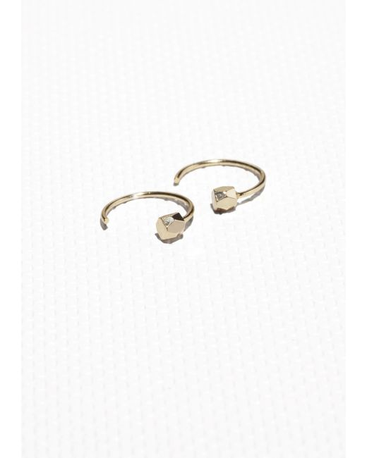 & Other Stories | Metallic Tiny Open Hoop Earrings | Lyst