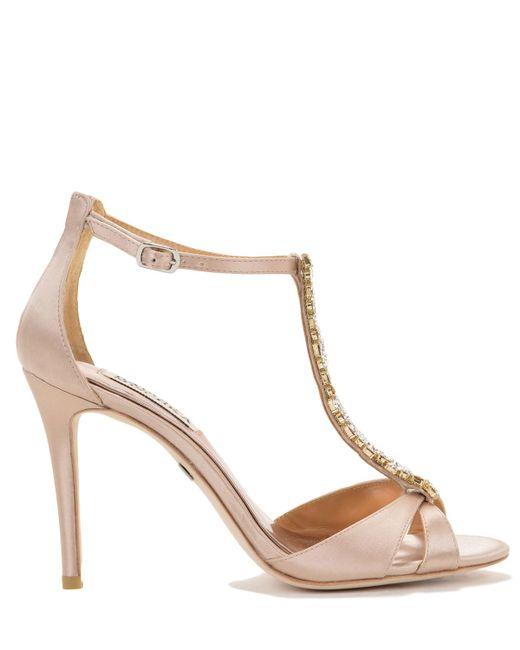 Badgley Mischka | Pink Radiant T-strap Evening Shoe | Lyst