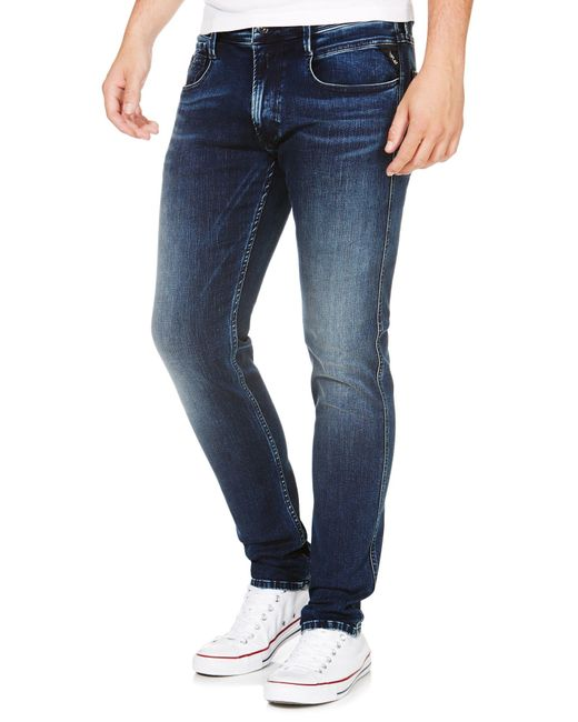 Replay | Blue Anbass Hyperflex Slim Fit Jeans for Men | Lyst