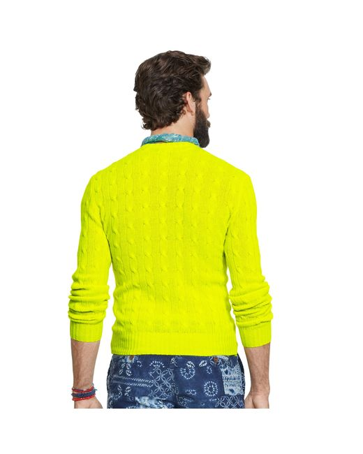 Polo Ralph Lauren   Green Cable-knit Cashmere Sweater for Men   Lyst