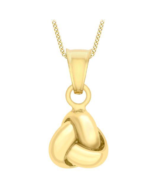 Ib&b | Metallic 9ct Yellow Gold Knot Pendant Necklace | Lyst