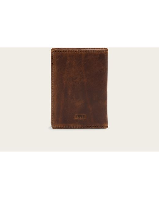 Frye | Brown Logan Passport Wallet for Men | Lyst