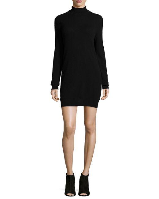 Equipment | Black Oscar Long-sleeve Cashmere Turtleneck Dress | Lyst