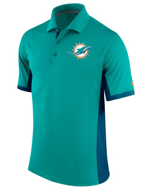 Nike Men 39 S Miami Dolphins Team Issue Polo In Green For Men