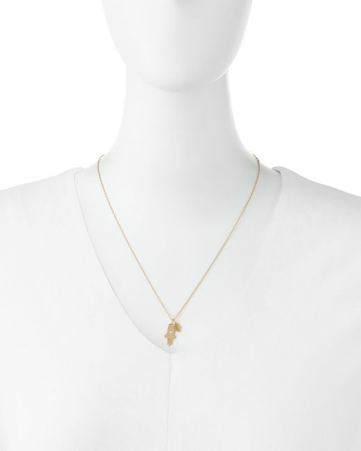Jennifer Zeuner | Yellow Faith Double Hamsa Charm Necklace | Lyst